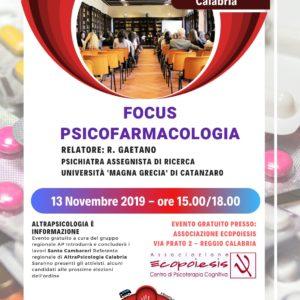 FOCUS PSICOFARMACOLOGIA